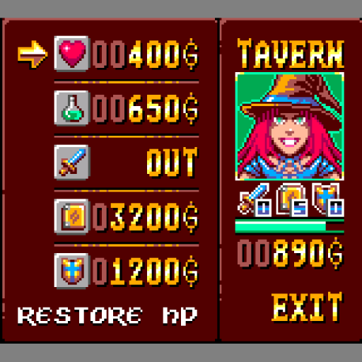 Heroes against Demons - Game Gear Edition - Tavern