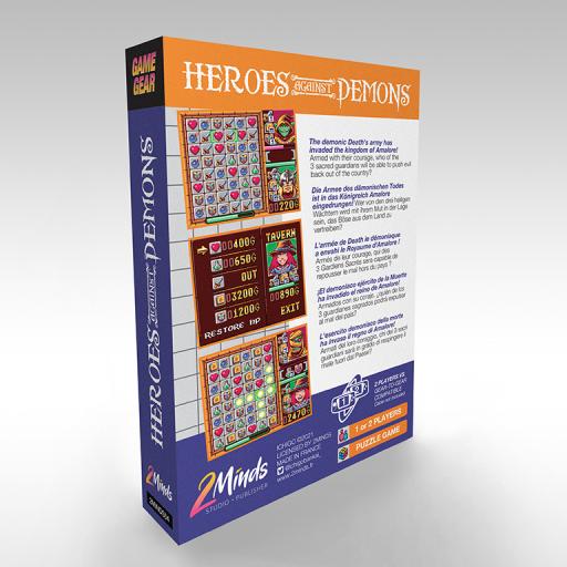 Heros Against Demons - Game Gear - Boite de jeu arrière