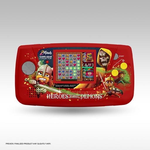 Heros Against Demons - Game Gear - Edition Limitée - Coque de console unique